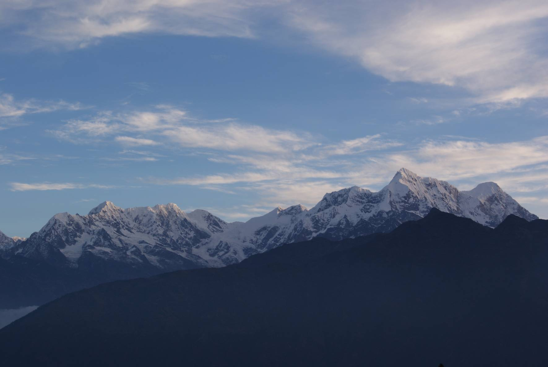 view of Numbur Himal from Ngowur below Pike